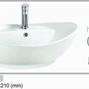 Chậu lavabo đặt bàn đá Govern LAD- 020 (590x 390x 210)
