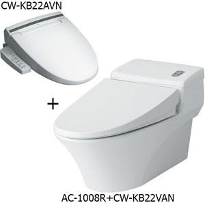Bồn cầu nắp rửa điện tử Inax AC-1008R+CW-KB22AVN