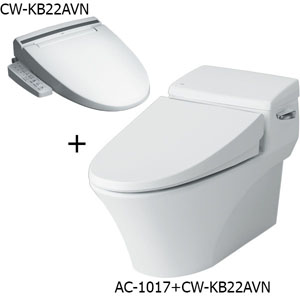 Bồn cầu nắp rửa điện tử Inax AC-1017R+CW-KB22AVN