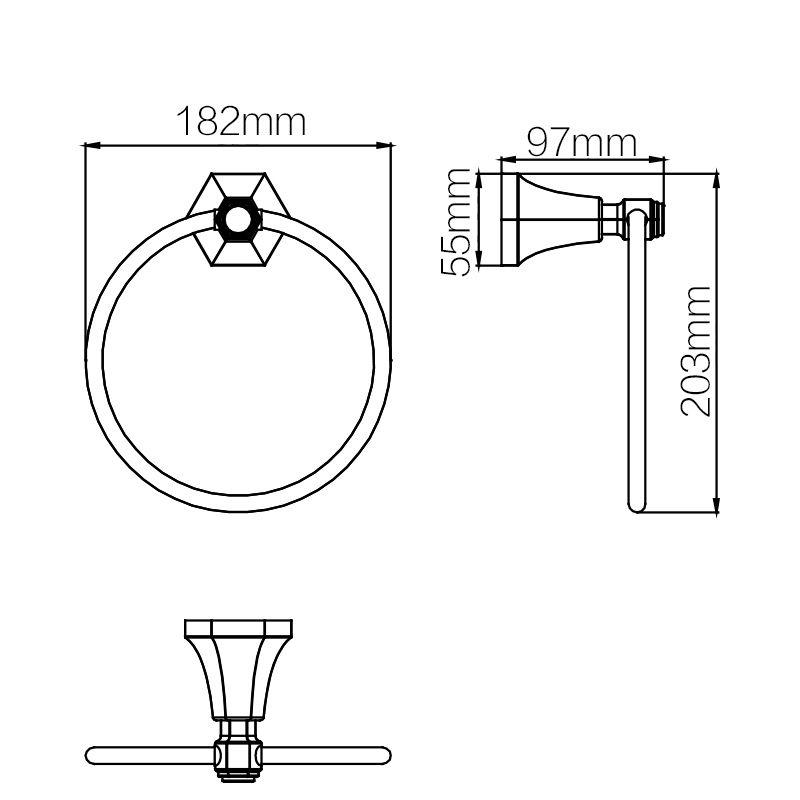 Vòng treo khăn Aqualem GJ01108GD
