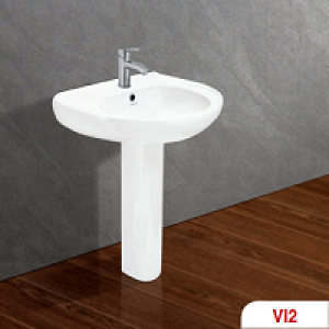 Chậu + chân rửa lavabo Viglacera VI2