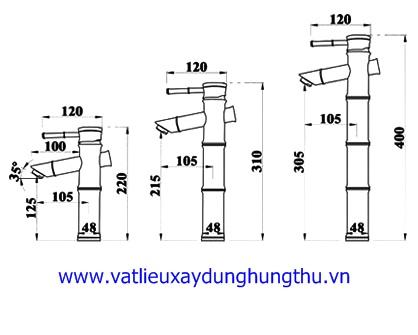 Vòi rửa mặt đồng nóng lạnh KANLY GC-A02 5