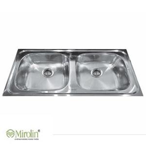 Chậu rửa bát inox 2 hố Mirolin MT860S-20B/M