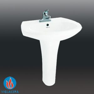 Chậu + chân rửa lavabo Viglacera HL4-600