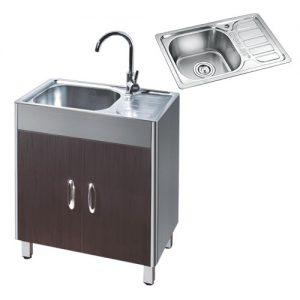 Tủ Chậu rửa bát 1 hố 1 bàn GORLDE T-925