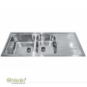Chậu rửa bát inox Mirolin MT1200S-2B1D 1