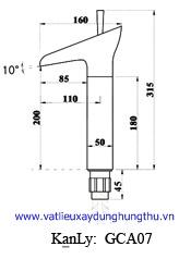 Vòi rửa mặt đồng nóng lạnh KANLY GC-A07 6