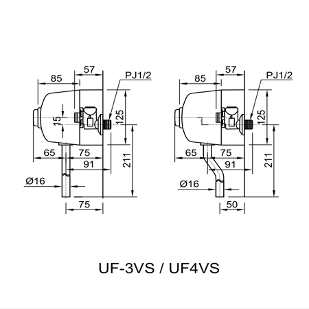 Van xả tiểu ấn Inax UF-3VS 1