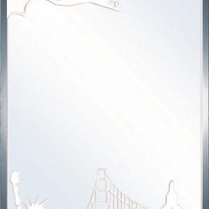 Gương phòng tắm 45*60 Đình Quốc 4243