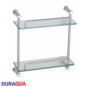 Kệ kính nhôm 2 tầng Duraqua 6712