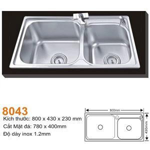 Chậu rửa bát AMTS 8043 (80x43cm)
