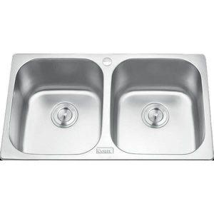 Chậu rửa bát 2 hố cân GORLDE GD-5304