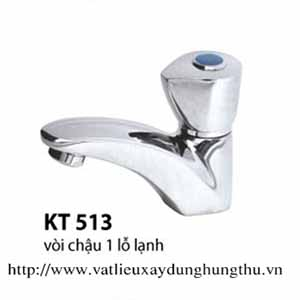 VÒI CHẬU 1 LỖ KITACO KT513 ( LẠNH )