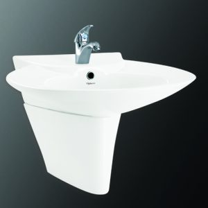 Chậu + chân rửa lavabo Viglacera CR1