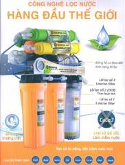 Máy lọc nước 7 lõi lọc có tủ SH107 có đèn UV
