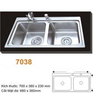 Chậu rửa bát AMTS 7038 (700x38cm)
