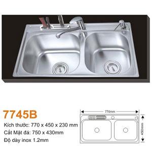 Chậu rửa bát AMTS 7745B (77x45cm)