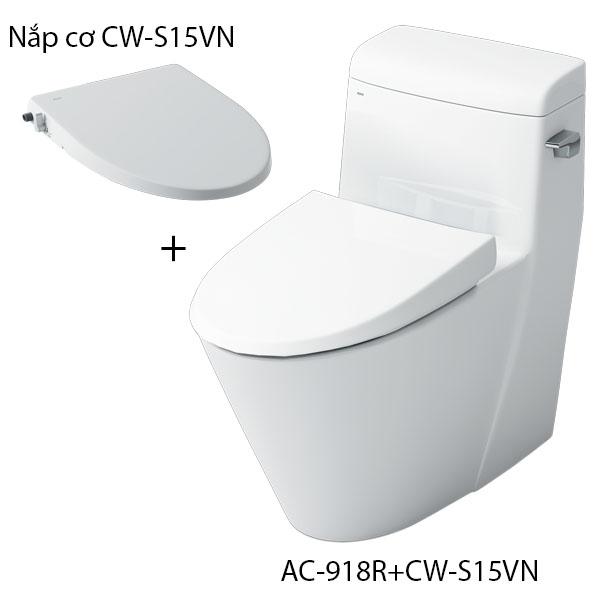 Bồn cầu một khối nắp rửa cơ inax AC-918R+CW-S15