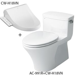 Bồn cầu nắp rửa điện tử Inax AC-991R+CW-H18VN