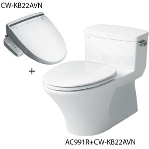 Bồn cầu nắp rửa điện tử Inax AC-991R+CW-KB22AVN