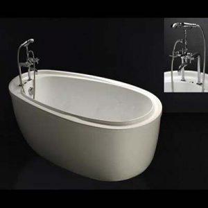 Bồn tắm nằm có chân yếm Caesar AT6480
