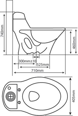 Bệt két liền trơn HC 1002 (thường/ TM nắp điện/ TM nắp cơ) 2