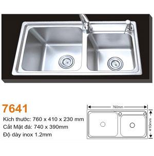 Chậu rửa bát AMTS 7641 (76x41cm) 1