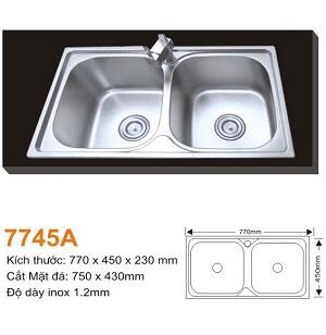 Chậu rửa bát AMTS 7745A (77x45cm) 1