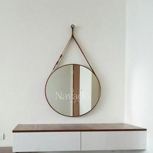 Gương dây da Brown Navado