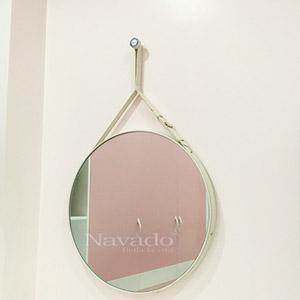 Gương dây da trắng Navado