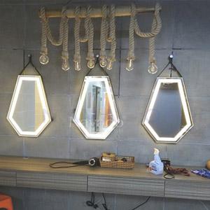 Gương dây da đèn led Diamond Navado