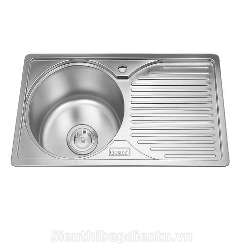 Chậu rửa bát 1 hố GORLDE GD-0290 1