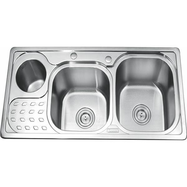 Chậu rửa bát 2 hố GORLDE GD-5403( bàn trái) 1