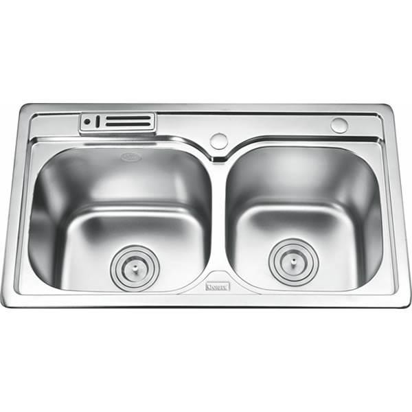 Chậu rửa bát 2 hố cân GORLDE GD-5812 1