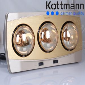 Đèn sưởi 3 bóng treo tường Kottmann K3B-H