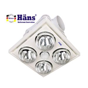 Đèn sưởi 4 bóng âm trần Hans H4B công tắc