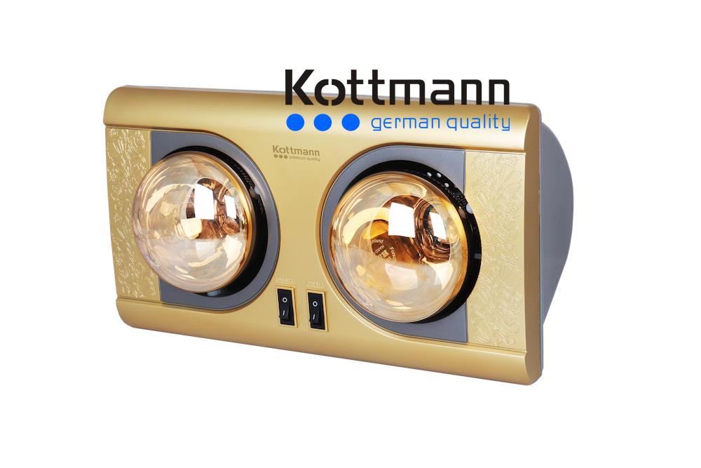 Đèn sưởi 2 bóng treo tường Kottmann K2B-NV 1
