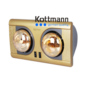 Đèn sưởi 2 bóng treo tường Kottmann K2B-NV