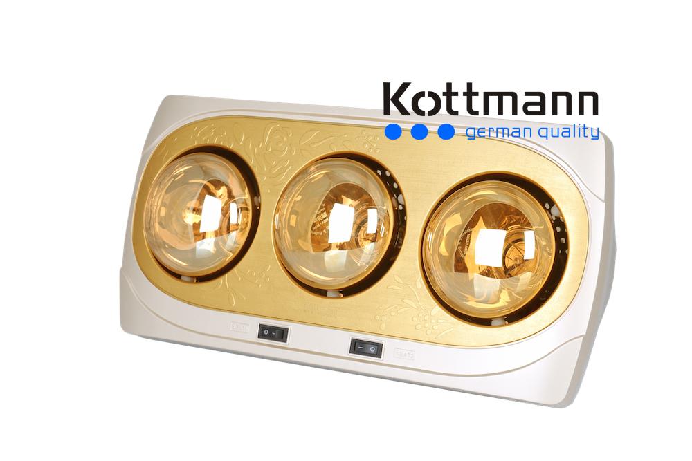 Đèn sưởi 3 bóng treo tường Kottmann K3B-NV 1