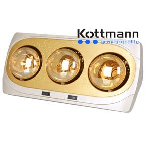 Đèn sưởi 3 bóng treo tường Kottmann K3B-NV