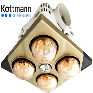 Đèn sưởi 4 bóng âm trần kottmann K4BT (công tắc)