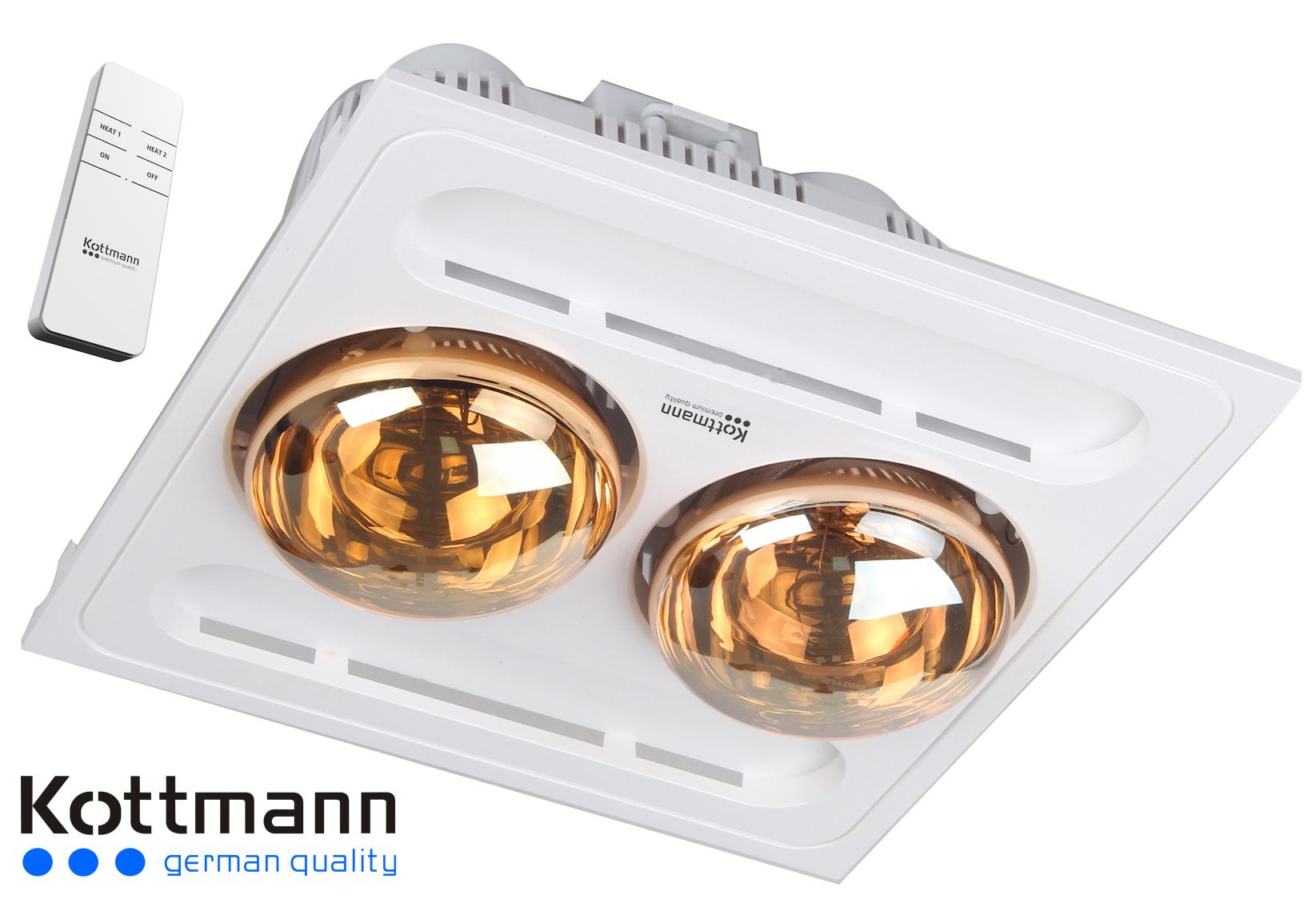 Đèn sưởi 2 bóng âm trần Kotmann K9-R (điều khiển từ xa) 1