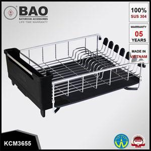 Kệ đựng chén đĩa inox Bao KCM3655