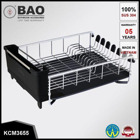 Kệ đựng chén đĩa inox Bao KCM3655 1