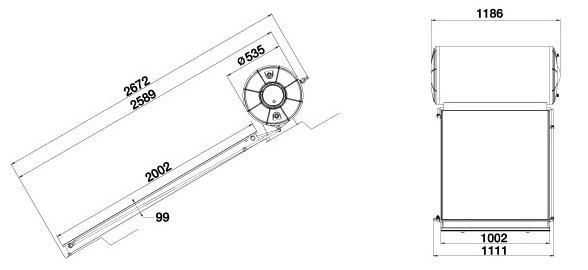 Máy nước nóng năng lượng mặt trời Ariston tấm phẳng đơn 200L mái nghiêng 1