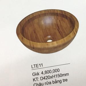 Chậu rửa mặt bằng tre, gỗ KanLy LTE11