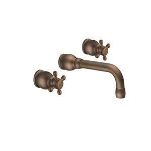 Vòi rửa mặt đồng âm tường nóng lạnh KANLY GC-T03