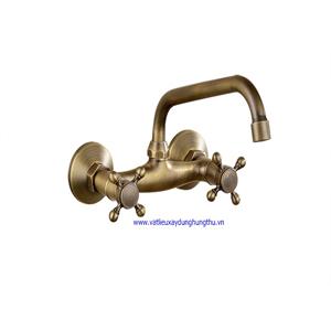 Vòi rửa mặt đồng nóng lạnh âm tường KANLY GC-T05