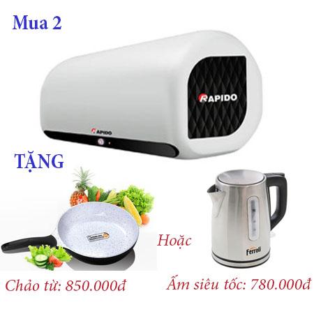 Khuyến mại bình nước nóng Rapido 4
