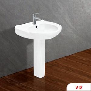 Chậu + chân rửa lavabo Viglacera VI2 1